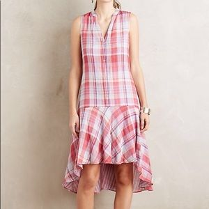 Anthropologie Maeve Pippa Plaid Dress with pockets